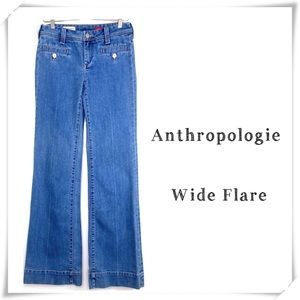 Anthropologie Pilcro Wide Flare Jeans